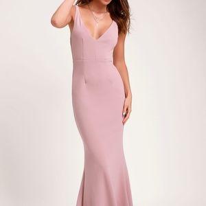 NWT Medium LuLus MELORA DUSTY ROSE DRESS
